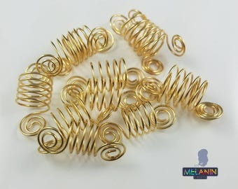 Spiral Minis Hair Cuffs- Handmade Hair/Braids/Locs Cuffs Accessories (2 per single order)
