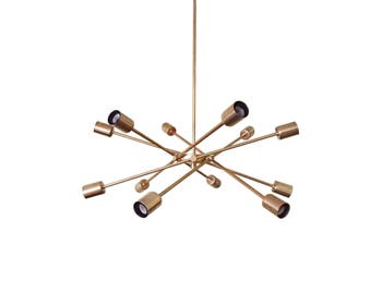 The Spiral 12 Arm Chandelier Modern UL Listed