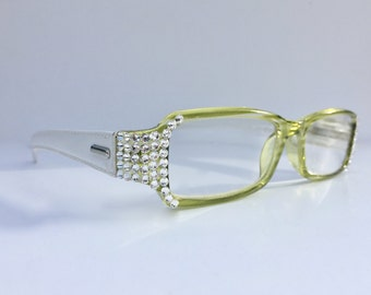 Reading glasses made with Swarovski Crystals  +1.25 +1.50 +1.75 +2.00 +2.25 +2.50 +2.75