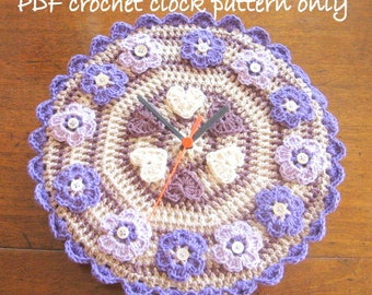 Pattern. Quirky clock crochet pattern. Photo tutorial. PDF instant download. Permission to sell items made from this pattern.