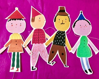 4 friends - paper garland
