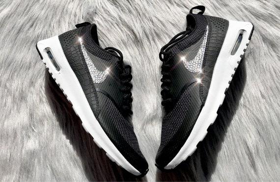 Air Black Diamond Swarovski Max Nike Crystal In Bling Shoes Thea Women's Running xC7q4B1wF7