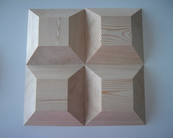 """Clay Molds-Four 5 1/4"""" Square Wooden Press Bach Molds for Clay Hand Building- Use 1 or More to Create"""