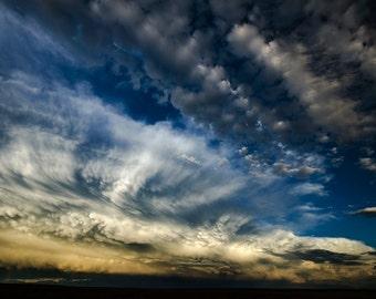 Retreating Thunderstorm photograph print