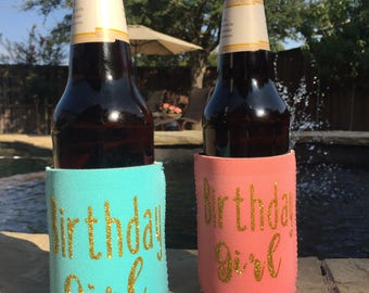 Birthday Party Favors/Birthday Can Coolers/Fun Birthday Favors/Personalized Favors/Birthday Party