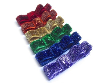 Rainbow Hair Clips Tuxedo Bows Glitter Hair Clips Red Hair Clips Orange Hair Clips Gold Hair Clips Green Hair Clips Blue Hair Clips Purple