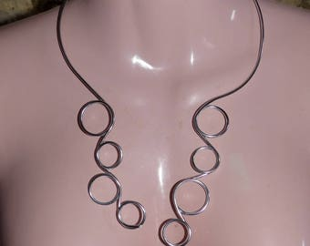Necklace Silver Aluminum spiralu