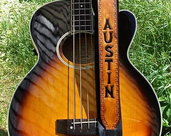 Guitar Strap, Personalized Guitar Strap, Leather Guitar Strap, Custom Guitar Strap, Build Your Own Guitar Strap, PATENT PENDING