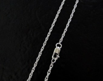 22 Inch - Sterling Silver 1.6mm Rope Chain Necklace