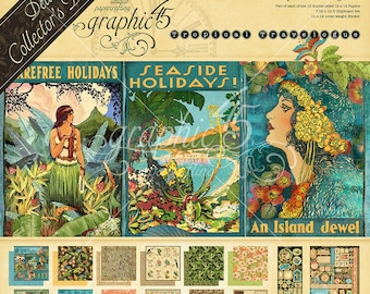 PREORDER Graphic 45-Tropical Travelogue-Deluxe Collectors Edition