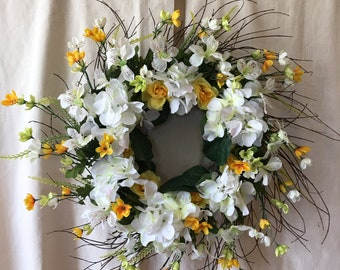 Front Door Wreaths - Spring Wreaths - Summer Front Door Wreath  - Spring Wreaths For Front Door - Summer Wreaths - Summer Door Wreath