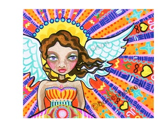 JPG Freckle face Angel digital file for Printing Poster Sized - Psychedelic large wall art DIY Bones Nelson