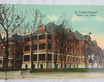 St Joseph Hospital at Sioux City IA Iowa PC Postcard Unused