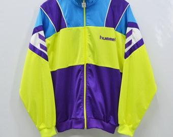 Hummel Jacket Men Size L 90s Hummel Vintage Colorblock Vintage Hummel Track Jacket