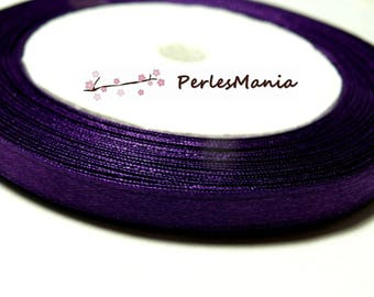 Special offer: 1 roll of 22 PY035 purple 6mm satin ribbon