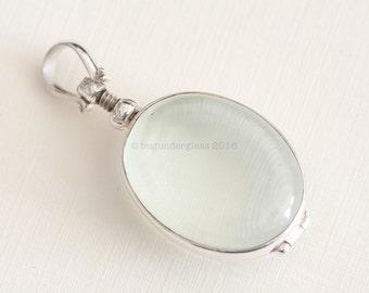 Oval Glass Locket Sterling Silver Keepsake finding