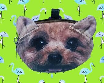 Yorshire Terrier dog  coin  purse dog coin coin  purses