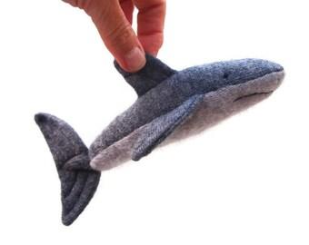 Shark, waldorf toy, stuffed animal, waldorf animal, toy shark, waldorf sea creature, waldorf fish, toy fish