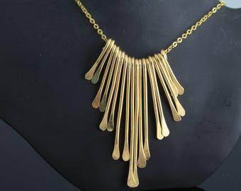 Brass Fan Necklace