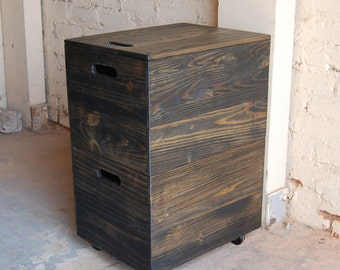 wood file cabinet. File Cabinet/ Office Furniture/ Portable Storage/ Crate/ Reclaimed Wood Cabinet O
