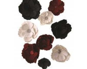 handcrafted paper flowers - 2 colour options