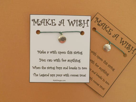 Stamped Believe Wish Bracelet