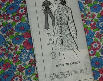 Vintage Pattern c.1960's Mail Order No.B-187 Dress, Slacks, Jacket Size 12 1/2 Uncut
