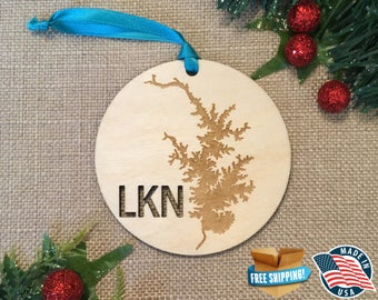 Lake Norman Ornaments *** Lake Ornament *** Family Gift *** Stocking Stuffer *** Personalized *** Christmas Holiday Ornament ***