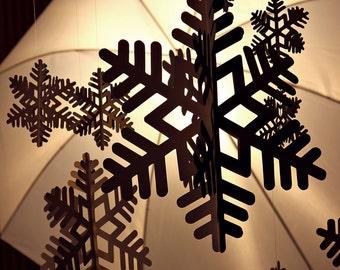Paper snowflake, winter decor, table decor, 3-d paper snowflake, unique paper snowflake, christmas decor