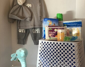 Baby Boy Shower Basket -UH-Oh!