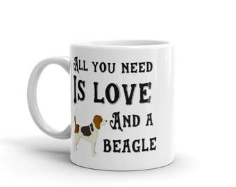 All you need is love and a Beagle coffee mug