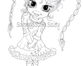 INSTANT DOWNLOAD Digital Digi Stamps Lilabeth By Sherri Baldy