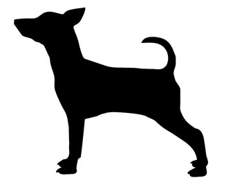 Miniature Pinscher v1 Dog Breed Silhouette Custom Die Cut Vinyl Decal Sticker - Choose your Color and Size - Min Pin Decal - Min Pin Lover