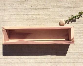 Aromatic Cedar Planter - Rectangle Planter - Window Sill Planter - Box Planter - Reclaimed Wood - Aromatic Cedar