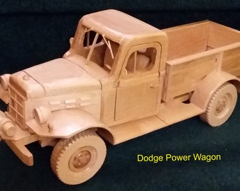 Dodge Power Wagon  - hand crafted from wood