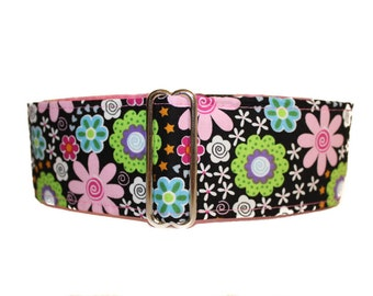 Floral Martingale Dog Collar, Floral Dog Collar, Large Dog Collar, Pink Dog Collar, Spring Martingale Collar, Dog Lovers Gift Idea