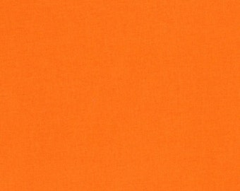 Orange Kona Cotton, Robert Kaufman Fabrics, Half Yard