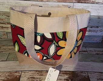 Red flower Tote