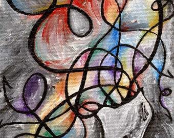 Mental Health Print, Fibromyalgia Support, Large Wall Art, Abstract Print, Depression, Anxiety Art, Rainbow Decor, Surrealism