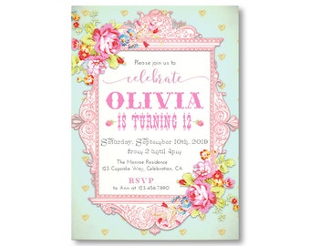12th birthday invite Etsy
