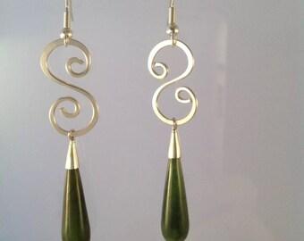 Silver wire wrapped earrings