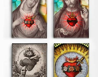 Set of 4 Magnets Religious