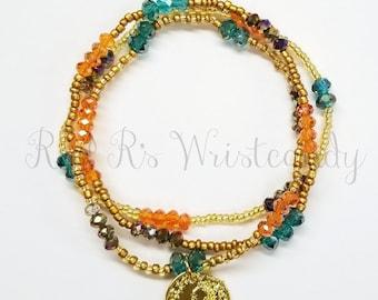 Beaded Bracelet Set, Minimalist Bracelet, Coin Bracelet, Bracelets, Handmade, Beaded Jewelry, Women's Jewelry, Festival Bracelets