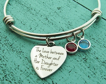 gift for mom on wedding, gift from daughter, bridal bracelet, baby shower gift new mommy, mom birthday gift birthstone, Mothers Day gift