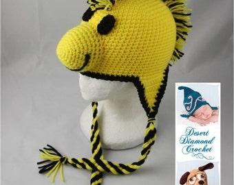 Yellow Bird Earflap Beanie - Any Colors - Any Size