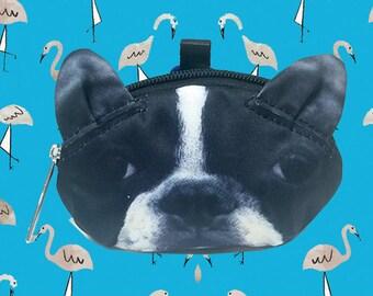 Boston terrier dog  coin  purse dog coin coin  purses