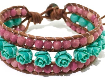 Turquoise Blossom Single Bracelet