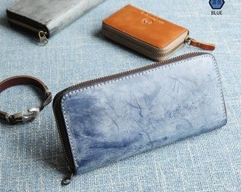 Best Real Men Leather Long Clutch Wallet Hand Bag Purse 5102W