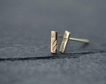 Falling petals fine earrings in silver or gold