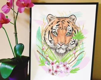 Animal Art Print (South China Tiger)